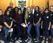 Leslie Middle Students at Marion County Commission